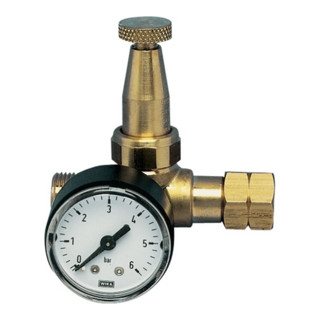 Propan Kleindruckregler 0,5-4bar W21,8x1/14Zoll mit Manometer