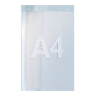 Prospekthalter f.Format DIN A4 hoch Acryl transparent zur Wandbefestigung