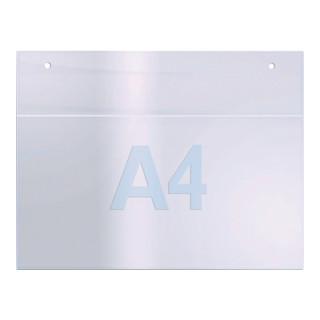 Prospekthalter f.Format DIN A4 quer Acryl transparent zur Wandbefestigung
