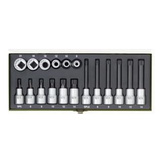 Proxxon Spezial-Steckschlüsselsatz für Vielzahnschrauben XZN, 18-tlg.