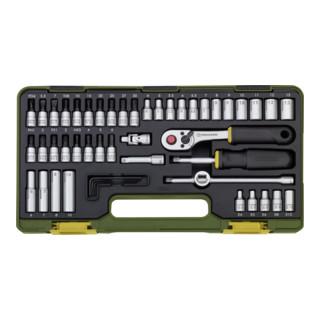 Proxxon Steckschlüsselsatz mit Knüppelratsche, 1/4'', 50-tlg.