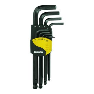 Proxxon Winkelschlüsselsatz für Innensechskant-Schrauben, 9-tlg. (1,5 bis 10 mm)