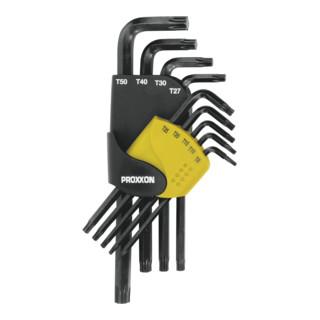 Proxxon Winkelschlüsselsatz für TX-Schrauben, 9-tlg. (TX 8 bis 50)