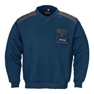 Terratrend Herren-Pullover mit V-Ausschnitt marine/schwarz/rot