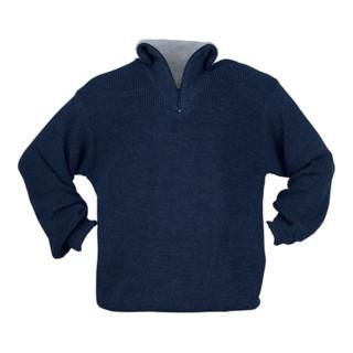Elutex Troyer-Pullover mit Reißverschlusskragen blau