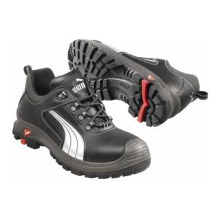 Puma Sicherheitsschuhe 640760 Teide Low, S2 schwarz/silber