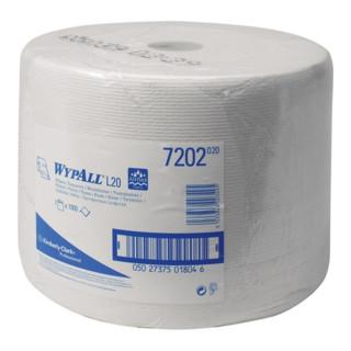 Putztuch WYPALL L10 EXTRA,7202 L.ca.390xB.ca.240mm 1-lagig,perforiert,weiss