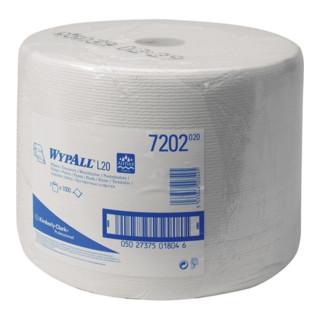 Putztuch Wypall L20-7202 weiß 1lagig L.380xB.240mm 1000Abrisse