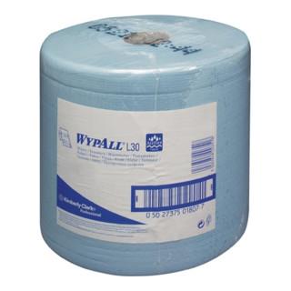 Putztuch WYPALL L20 EXTRA,7346 L.380xB.235mm 2-lagig,perforiert,blau,verleimt