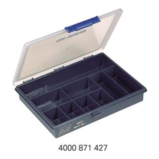 Raaco Sortimentskasten 5-9 B.240xT.195xH.43mm 9Fächer'Fächer dunkelblau/transp. a.PP
