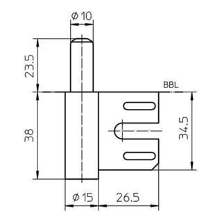 Rahmenteil V 8100 STA vern.f.2-tlg.Stahlzargen Stand.