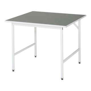 Rau Arbeitstisch Linoleum BxTxH 1000x1000x800-850mm
