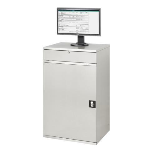 Rau Edelstahl-Computer-Schrank M60 520 mm