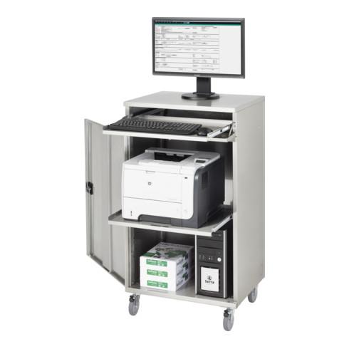 Rau Edelstahl-Computer-Schrank M65 520 mm