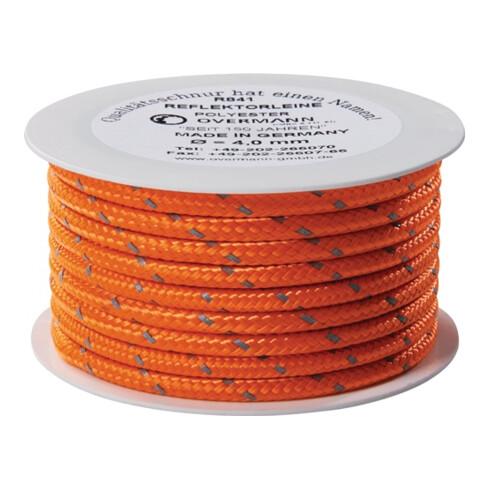 Reflektorschnur Safety Reflector L.100m D.6mm PES orange OVERMANN