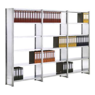 Regalwerk BERT Büroregal Anbaufeld mit Vollblech Seitenwand verzinkt