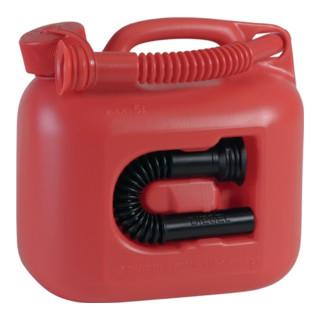 Reserve-Kraftstoffkanister Inhalt 5l L.265xB.147xH.247mm rot 2Auslaufrohre
