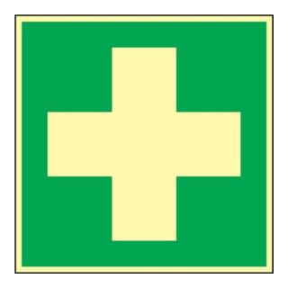 Rettungszeichen ASR A1.3/BGV A8/DIN 67510 L148xB148mm Erste Hilfe Folie