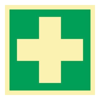 Rettungszeichen ASR A1.3/DIN EN ISO 7010/DIN 67510 L148xB148mm Erste Hilfe Folie