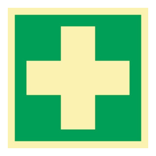 Rettungszeichen ASR A1.3/DIN EN ISO 7010/DIN 67510 L148xB148mm Erste Hilfe Ku.