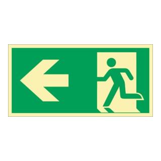 Rettungszeichen ASR A1.3/DIN EN ISO 7010/DIN 67510 Rettungsweg li.Folie