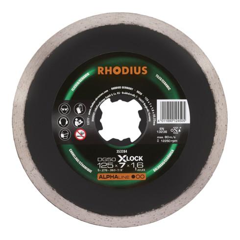 RHODIUS ALPHAline DG50 X-LOCK Diamanttrennscheibe 5,0 x 1,6 x 22,23 mm