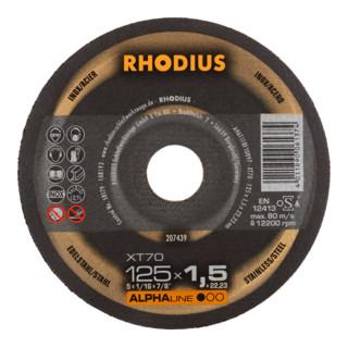 RHODIUS ALPHAline XT70 PACK Extradünne Trennscheibe