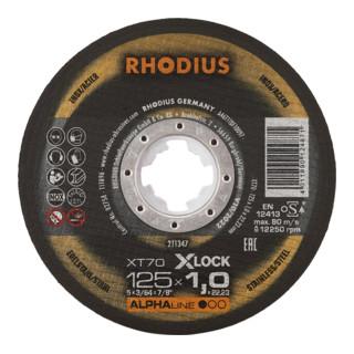 RHODIUS ALPHAline XT70 X-LOCK Extradünne Trennscheibe