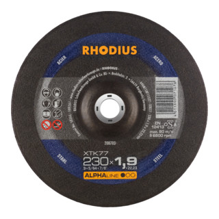 RHODIUS ALPHAline XTK77 Extradünne Trennscheibe