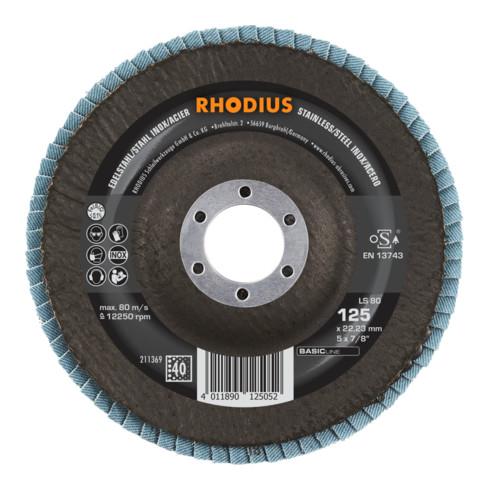 RHODIUS BASICline LS80 Fächerschleifscheibe