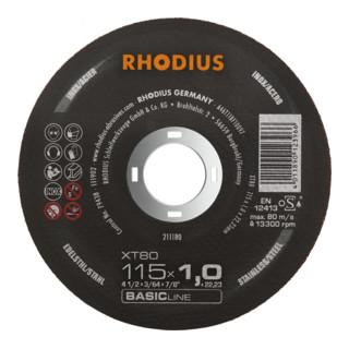 RHODIUS BASICline XT80 Extradünne Trennscheibe