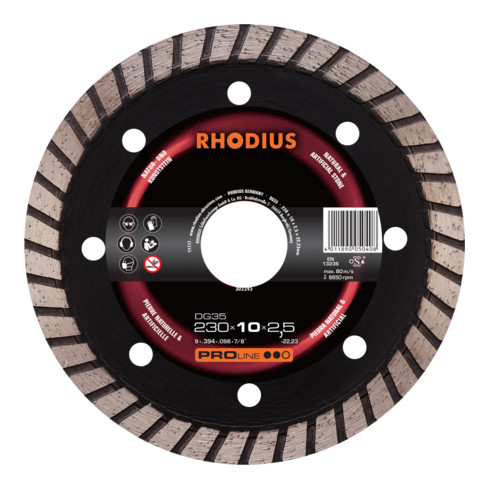 RHODIUS PROline DG35 X-LOCK Diamanttrennscheibe 7,5 x 2,0 x 22,23 mm