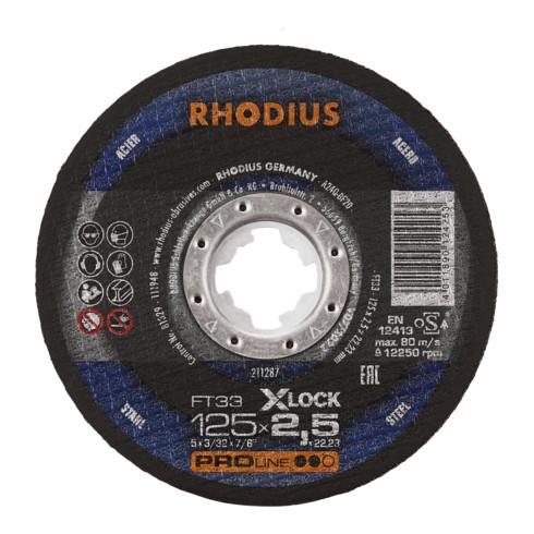 RHODIUS PROline FT33 X-LOCK Freihandtrennscheibe 2,5 x 22,23 mm