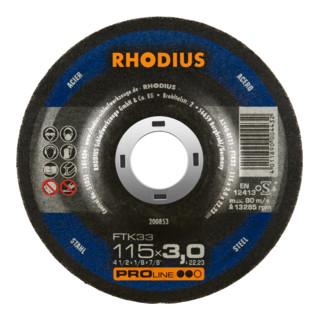 RHODIUS PROline FTK33 Freihandtrennscheibe 3,0 x 22,23 mm