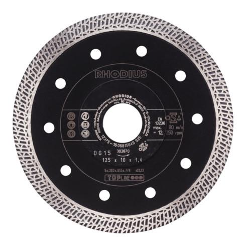 RHODIUS TOPline DG15 X-LOCK Diamanttrennscheibe 10,0 x 1,4 x 22,23 mm
