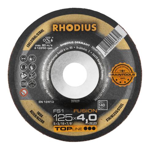 RHODIUS TOPline FS1 FUSION Schruppscheibe INOX
