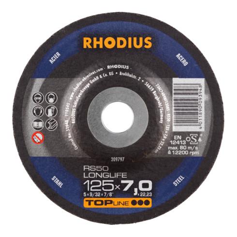 RHODIUS TOPline RS50 LONGLIFE Schruppscheibe Stahl