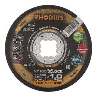 RHODIUS TOPline XT100 EXTENDED X-LOCK Extradünne Trennscheibe