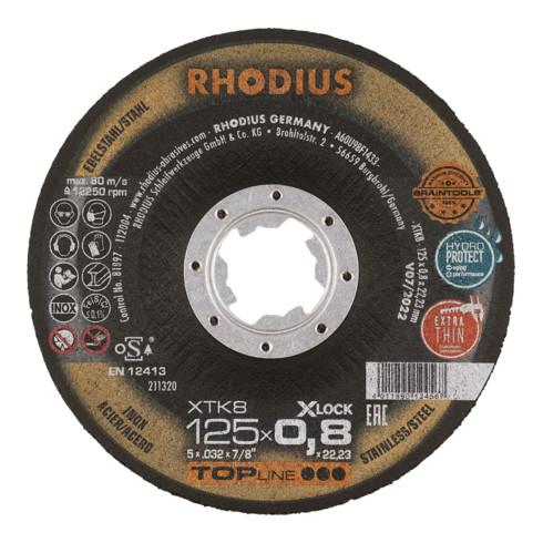 RHODIUS TOPline XT8 EXACT X-LOCK Extradünne Trennscheibe 115 x 0,8 x 22,23 mm