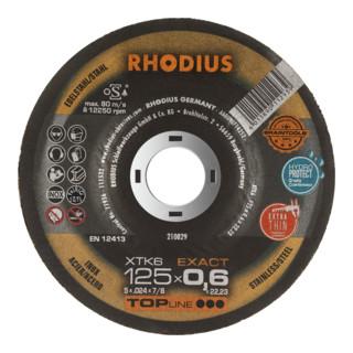 Rhodius Trennscheibe XTK6 EXACT ger.INOX