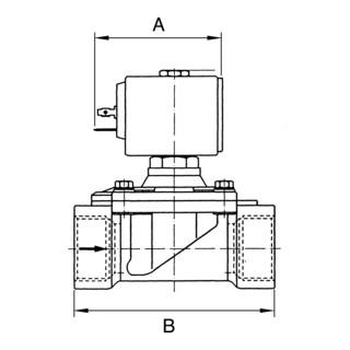 RIEGLER 2/2-Wege-Magnetventil MS NC vorgesteuert 230 V 50 - 60 Hz G 1