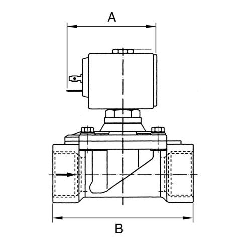RIEGLER 2/2-Wege-Magnetventil MS NC vorgesteuert 24 V DC G 3/8 G 3/8