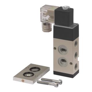 RIEGLER 3/2-5/2-Wegeventil, NAMUR, G 1/4 (1), G 1/4 (3 + 5), 24 V DC