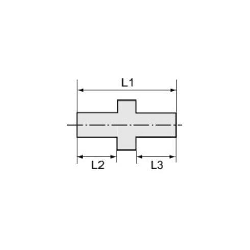 RIEGLER Doppelgewindenippel zyl. G 1/2 a. G 3/4 a. SW 32 Messing