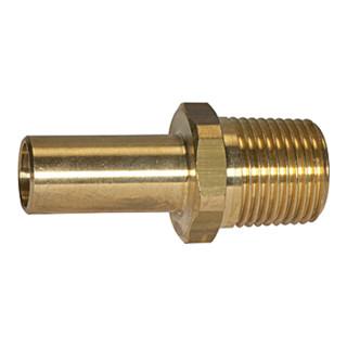 RIEGLER Einschraubstutzen aus Messing 3/4 BSP für Rohr Außendurchmesser 28 mm