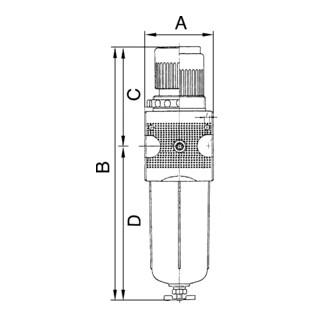 RIEGLER Filterregler multifix mit PC-Behaelter BG 1 G 3/8 0,5-10 bar