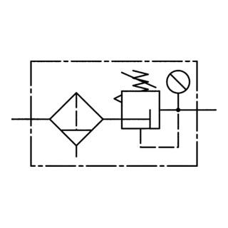 RIEGLER Filterregler multifix mit PC-Behälter BG 3 G 3/4 0,5-10 bar