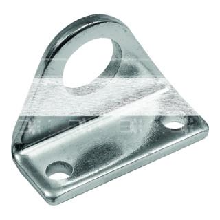 RIEGLER Fußbefestigung, ISO 6432, Kolben-Ø 12-16, Stahl verzinkt, 1 Stück