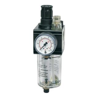 Riegler Kombi-Wartungseinheit mit PC-Behälter BG 1 G 1/4 0,5 - 10 bar