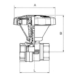 RIEGLER Kugelhahn, Feineinstellung, Messing vernickelt/blank, Rp 1